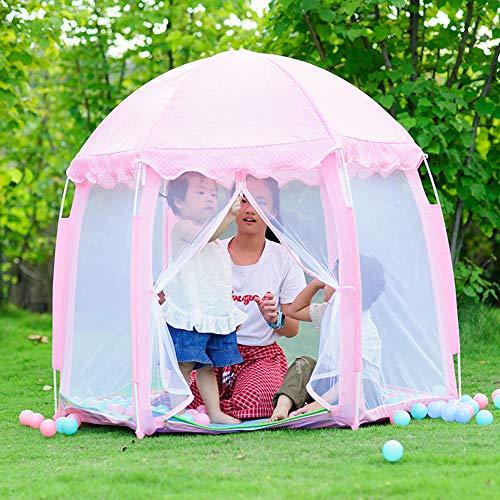 yuandao Hexagonal Kids Tent, New Princess Tent Hexagonal Princess Castle Indoor and Outdoor Girls Tent, 55'' x 51''(DxH) by yuandao (Image #5)