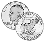 #6: 1 U.S. Eisenhower Ike $1 Dollar Coin 1971 to 1978 Collectors Coin.