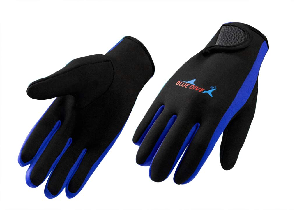 Ylucky 1.5MM Diving Gloves Premium Double-Lined Neoprene Wetsuit Gloves Five Finger Snorkeling Gloves for Diving Kayaking Surfing Sailing and Other Water Sports
