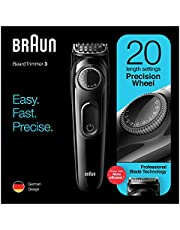 Braun BT 3222 Beard Trimmer and Hair Clipper for men, 20 Length Settings, Black