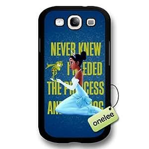 Disney Cartoon Princess and the frog Hard Plastic Phone Case for Samsung Galaxy S3 - Disney Princess Tiana Samsung S3(i9300) Case - Black