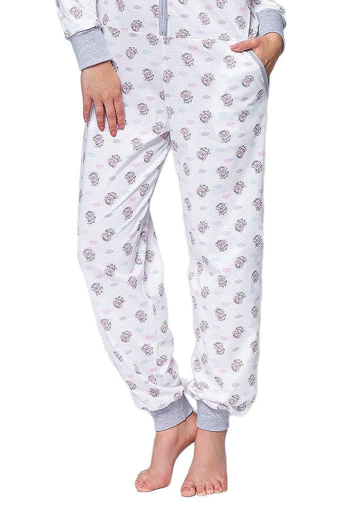 Onsie mit niedlichem Printmuster 100/% Baumwolle Made in EU SENSIS Angesagter Schlafanzug-Overall//Jumpsuit