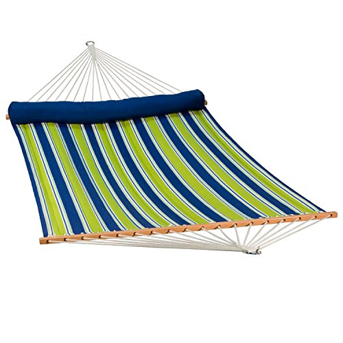 Algoma 2937DL Quilted Hammock w/Matching Pillow, 500 lbs. Cap /13' L, Blue ()