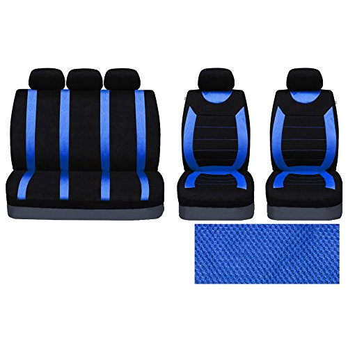 UKB4C Blue Full Set Front /& Rear Car Seat Covers for I10 14-On