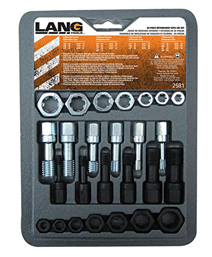 (Lang Tools 2581 26-Piece Thread Restorer Tap and Die Set)