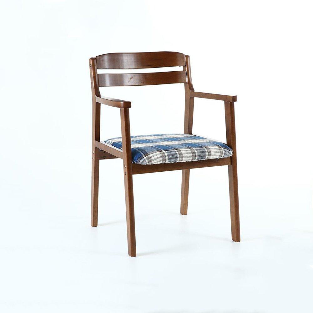 DALL ダイニングチェア JY-059クリエイティブ格子縞 絵 コットンリネン 組み立てることができます リムーバブル ウォッシュ 背もたれレジャー木製椅子 (色 : 2) B07DCN3XZ7 2 2