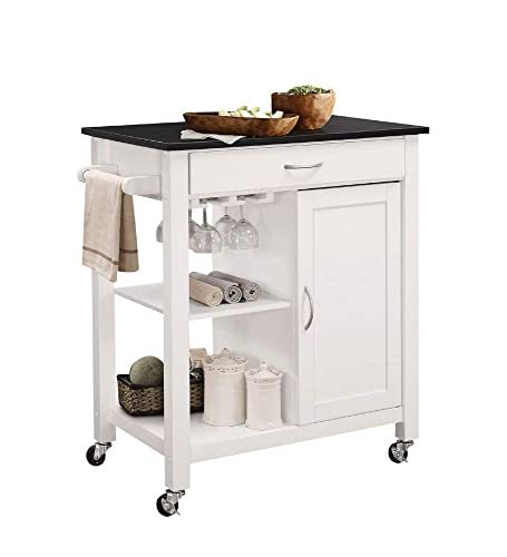 ACME Furniture 98320 Ottawa Kitchen Cart, Black White