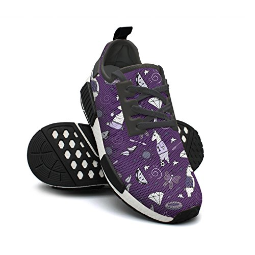 Breathable Mesh Shoes Soccer Star Purple Rendy Sneakers Football Fashion Unicorn Lightweight Womens Butterfly FAAERD Walking av6qwPn