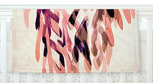 KESS InHouse Iris Lehnhardt Abstract Leaves I Orange Brown Fleece Baby Blanket 40 x 30 [並行輸入品]   B077ZTFT4R