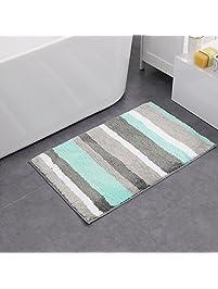HEBE Soft Microfiber Bath Mats Bathroom Rugs Anti Skid Non Slip Door Mats  Entrance Rug