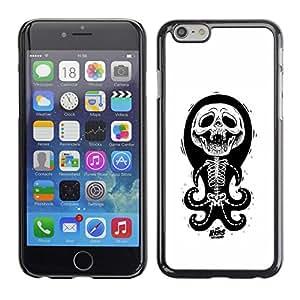 """For Apple Iphone 6 Plus / 6S Plus ( 5.5 ) Case , Cráneo divertido pulpo Anatomía Blanca"""" - Diseño Patrón Teléfono Caso Cubierta Case Bumper Duro Protección Case Cover Funda"""