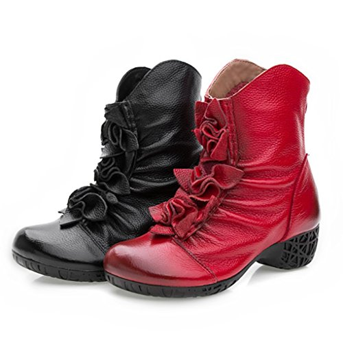 Women 's Martin Boots Casual Fashion Women Boots (Red) - 6