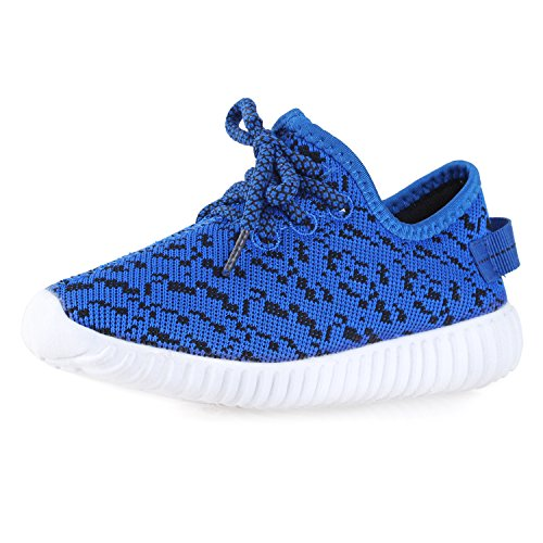 BLINX Boys Jogger Woven Knit Upper Casual Sneakers Shoes Royal Blue 13 by BLINX (Image #6)