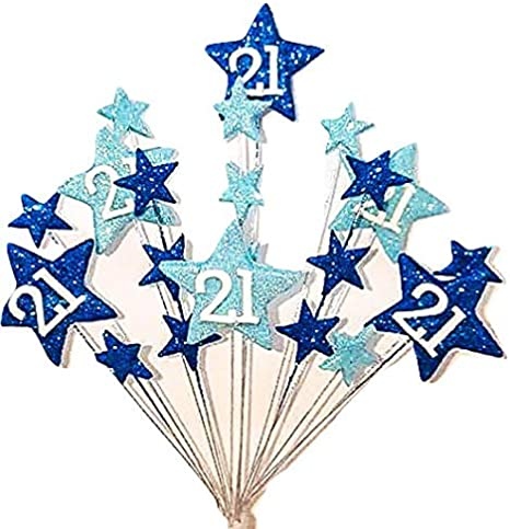 Bunting /& Stars with Age Handmade Personalised Cake Topper Birthday