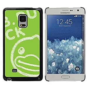 FECELL CITY // Duro Aluminio Pegatina PC Caso decorativo Funda Carcasa de Protección para Samsung Galaxy Mega 5.8 9150 9152 // Green Drawing Blackboard Chalk