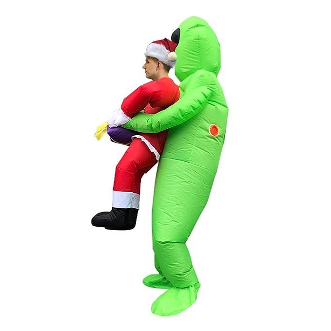 AFuex Traje Inflable Inflable Tema de Navidad Alien Disfraz ...