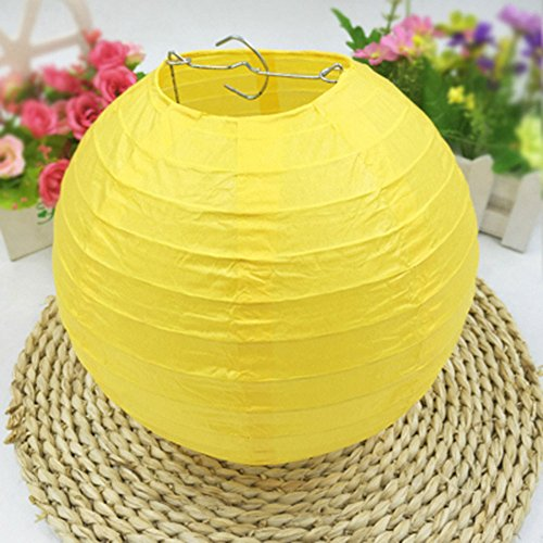"""LURICO 16 Pcs Colorful Paper Lanterns (Multicolor,Size of 4"""", 6"""", 8"""", 10"""") - Chinese/Japanese Paper Hanging Decorations Ball Lanterns Lamps for Home Decor, Parties, and Weddings by LURICO (Image #3)"""