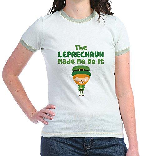 Leprechaun Ringer - CafePress Leprechaun Made Me - Jr. Ringer T-Shirt, Slim Fit 100% Cotton Ringed Shirt
