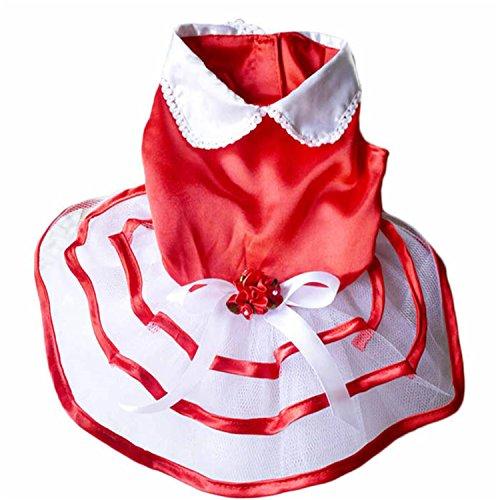HuoGuo Pet Dog Puppy Tutu Princess Dress Stripe Bow Lace Clothes Pet Apparel Acessorios Para Caes Dog Clothes Dress as shown L