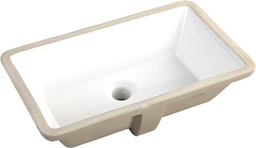 20.9 Inch Rectrangle Undermount Vitreous Ceramic Lavatory Vanity Bathroom Sink Pure White