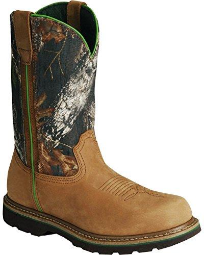 "John Deere Men's 11"" Mossy Oak Camo Boot,Brown,9 M US"