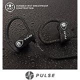 PULSE SG900 Bluetooth Headphones, 2018 Wireless Earbuds for Sports activities, Running, GYM. 8 HOUR Battery, IPX7 Waterproof, Sweatproof, Noise Cancelling Earphones w/Mic. 1-YEAR WARRANTY (BLACK)