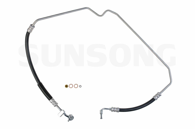 Sunsong 3401712 Power Steering Pressure Line Hose Assembly