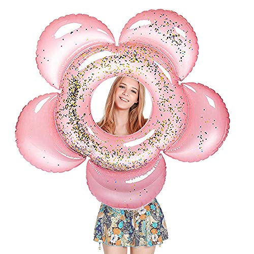 - Vercico New Inflatable Sparking Swimming Ring Glittering Pool Float for Kids