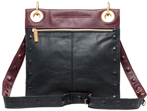 Mineral E Bag in Hammitt Cross Embossed Montana Reversible Body Black w55qH87