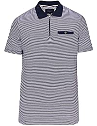 cfc3b8dd9e Mens Whippet Flat Knit Collar Polo Shirt in Navy Blue. Ted Baker