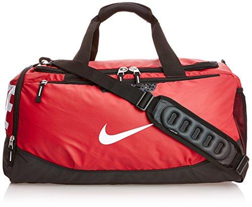 2148d5e75d Nike Team Training Max Air Medium Duffel Bag Gym Red Black White BA4513-601  (B007L5CU00)