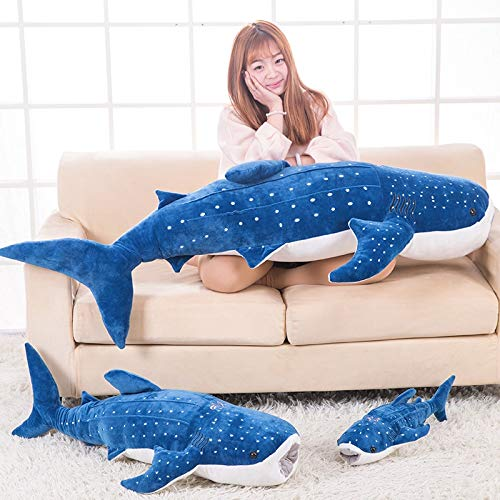TRAFSK Authentic Simulation Large Plush Toy Doll Doll Whale Ocean Shark Pillow Pillow Doll Doll Must Have Items 4 Year Old Boy Gifts The Favourite Anime Superhero Classroom Unboxing Box by TRAFSK