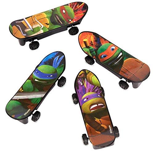 Mini Teenage Mutant Ninja Turtles Skateboard Party Favors, 4ct