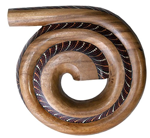 Didgehorn painted big ,made from hardwood. Voluminous sound, rich with lot of overtones. The complete sound of a Didgeridoo paired with the size of a travel didge. Because of its spiral form, it is easy to play and has a strong and dynamic sound. It ...
