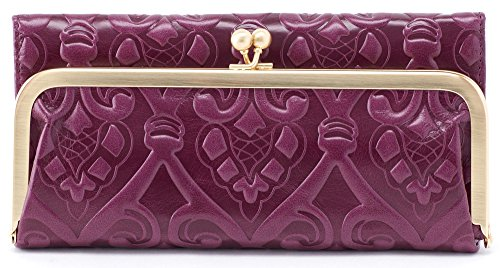 Hobo Womens Rachel Vintage Wallet Leather Clutch Purse (Embossed Eggplant) by HOBO