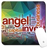 Luxlady Suqare Mousepad 8x8 Inch Mouse Pads/Mat design IMAGE ID: 36862645 Angel investor word cloud concept with abstract background