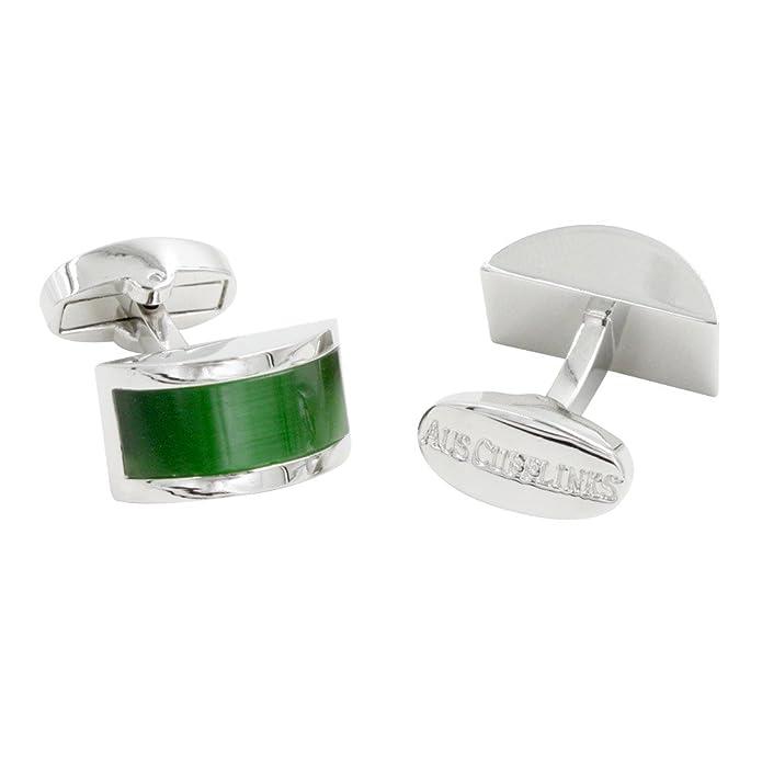 Gemelos con piedra verde esmeralda | 5 años de garantía | Estuche regalo incluido | Gemelos de calidad | Gemelos para padrinos: Amazon.es: Joyería