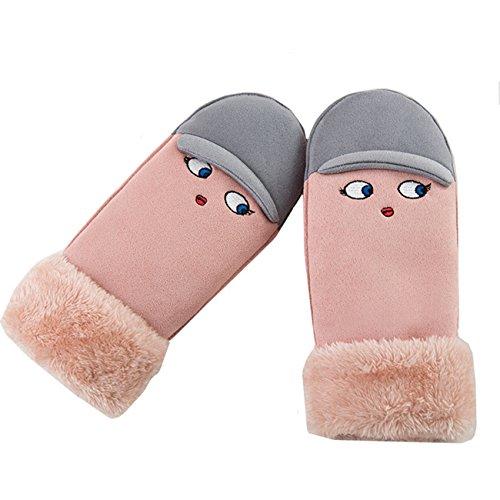 ミトン手袋 レディース 手袋 グローブ 紐付き 防寒 裏起毛 無地 かわいい おしゃれ 秋冬 あったか Monissy
