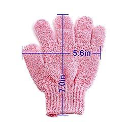 EZGO 5 Pair Bath Exfoliating Gloves - Durable Nylon Shower Gloves - Body Scrub Exfoliator for Men, Women & Kids
