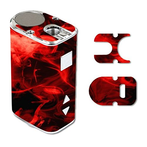 Eleaf iStick 10W Mini Vape E-Cig Mod Box Vinyl DECAL STICKER Skin Wrap / Red Smoke