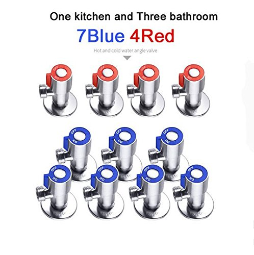 Bakala SUS 304 Stainless Steel Kitchen Bathroom Accessories Angle Valve for Toilet / Sink / Basin / Water Heater Angle Valves by Bakala