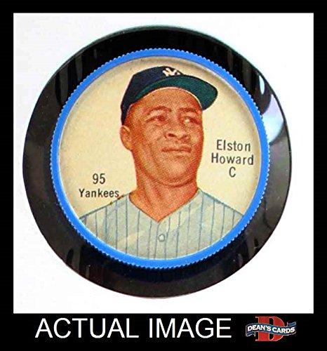 1962 Salada Coins # 95 Elston Howard New York Yankees (Baseball Card) Dean's Cards 4 - VG/EX Yankees