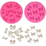 Mini Bow Silicone Fondant Mold Bowknot Candy Chocolate Mold Cake Cupcake Decoration For Birthday Party