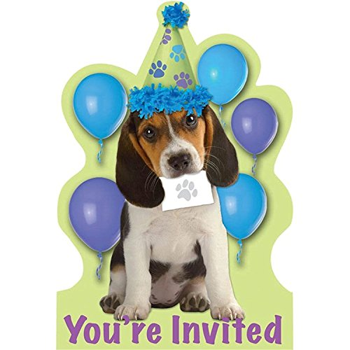 Amscan Puppy Party Invitations (8-pack)
