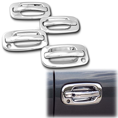 AutoModZone Chrome ABS Chrome 4 Door Handle Cover with PSG Keyhole for 00-06 GMC Yukon/Yukon Denali