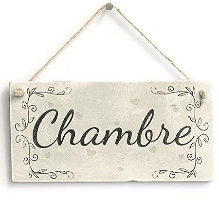 Amazon De Neuheit Aufhangen Schild Geschenk Chambre Franzosischen