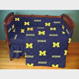NCAA Michigan 5 Piece Crib Bedding Set