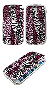 TPU Flip Soft Rubber Pink Safari Samsung Galaxy S 3 III Sprint,Verizon, at&t Case Cover Hard Phone Case Snap-on Cover Rubberized Frosted Matte Surface Hard Shells