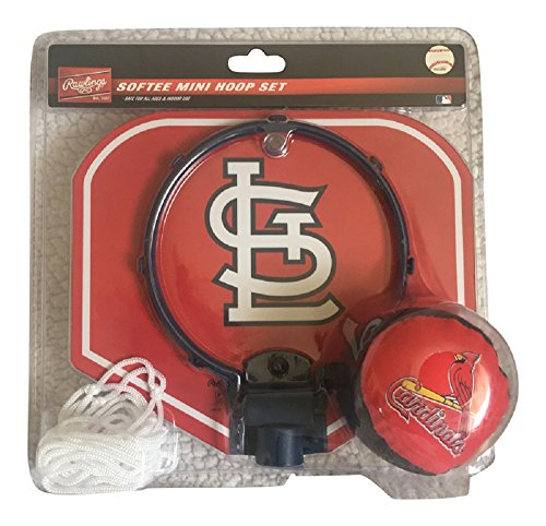 Rawlings St Louis - Rawlings MLB Mini Basketball Softee Hoop Set - St Louis Cardinals