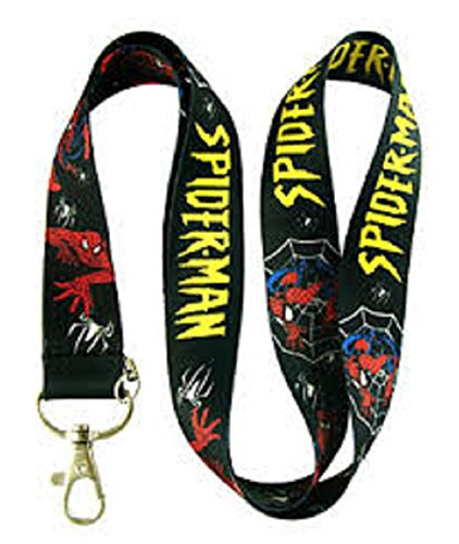The Amazing Spider-Man Multi Color Black Lanyard Keychain Badge ID Holder Colorful Superhero By PSdeals